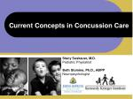 current concepts in concussion care