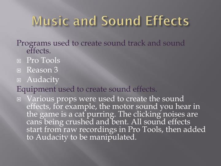 Music and sound effects1