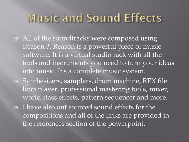 Music and sound effects2