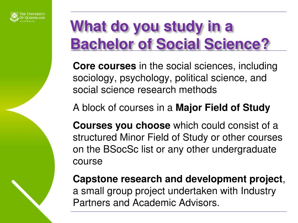 PPT - Bachelor of Social Science An Introduction PowerPoint