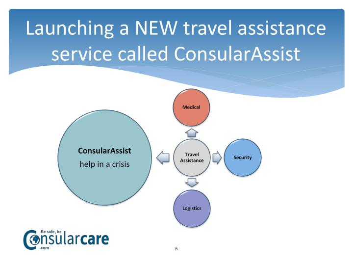 Launching a NEW travel assistance service called