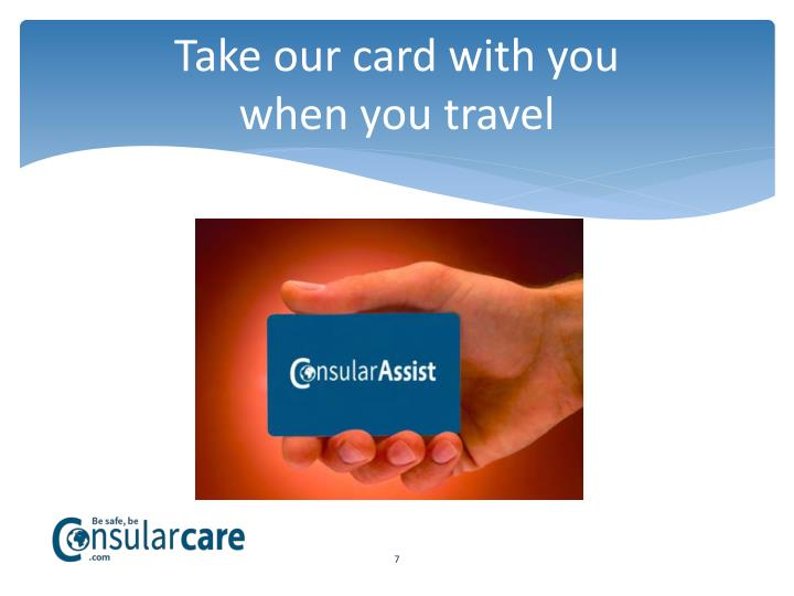 Take our card with you