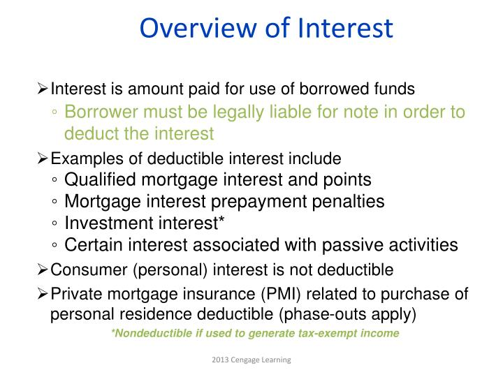 Overview of Interest