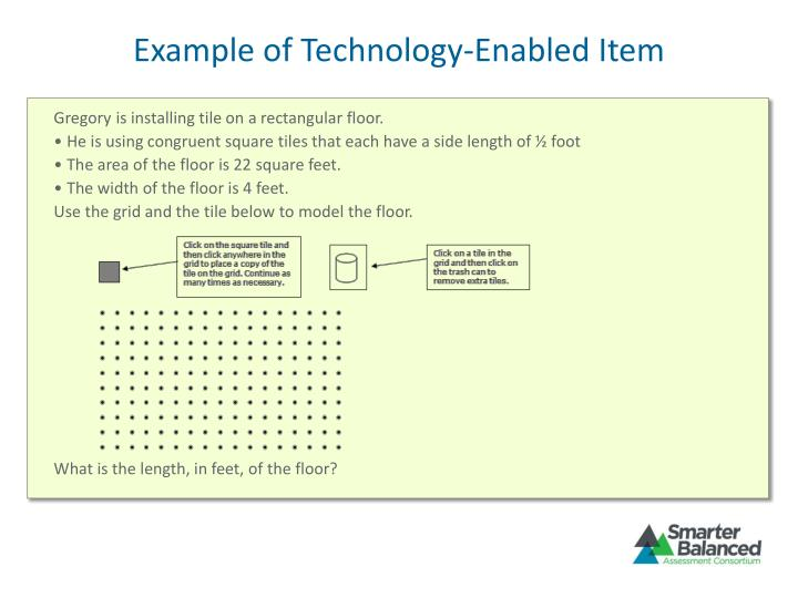 Example of Technology-Enabled Item