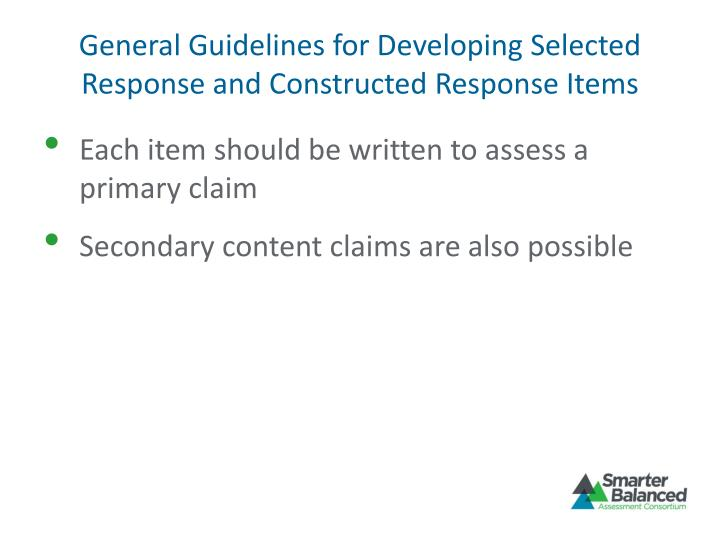 General Guidelines for Developing