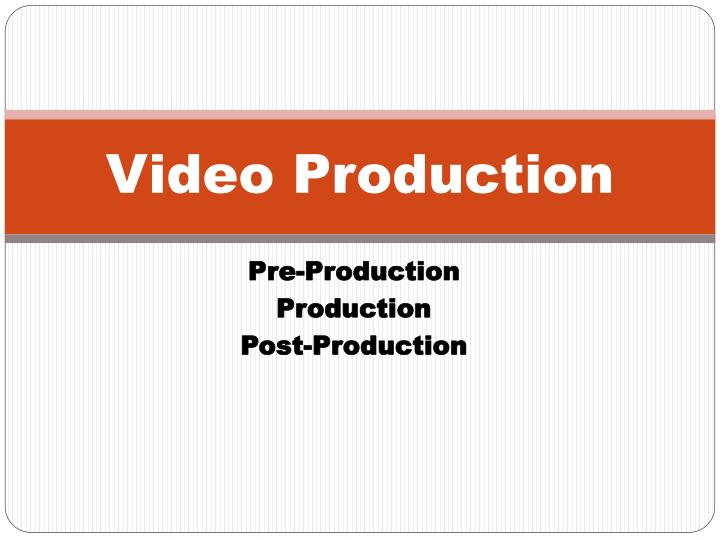 video production n.