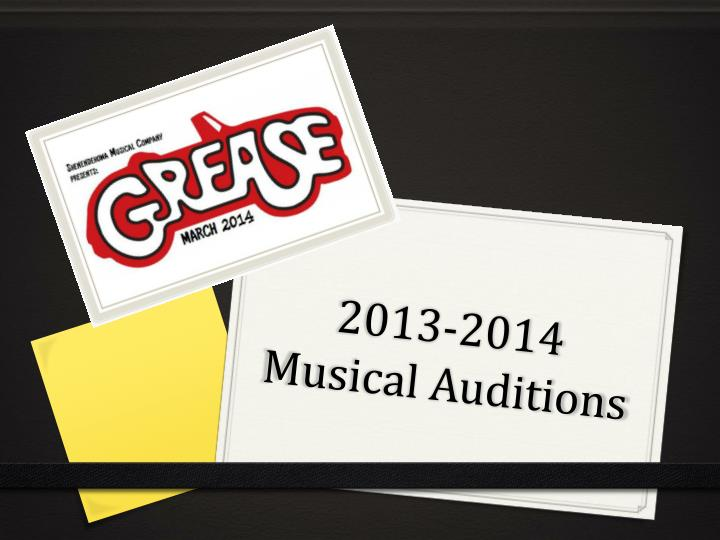2013 2014 musical auditions n.
