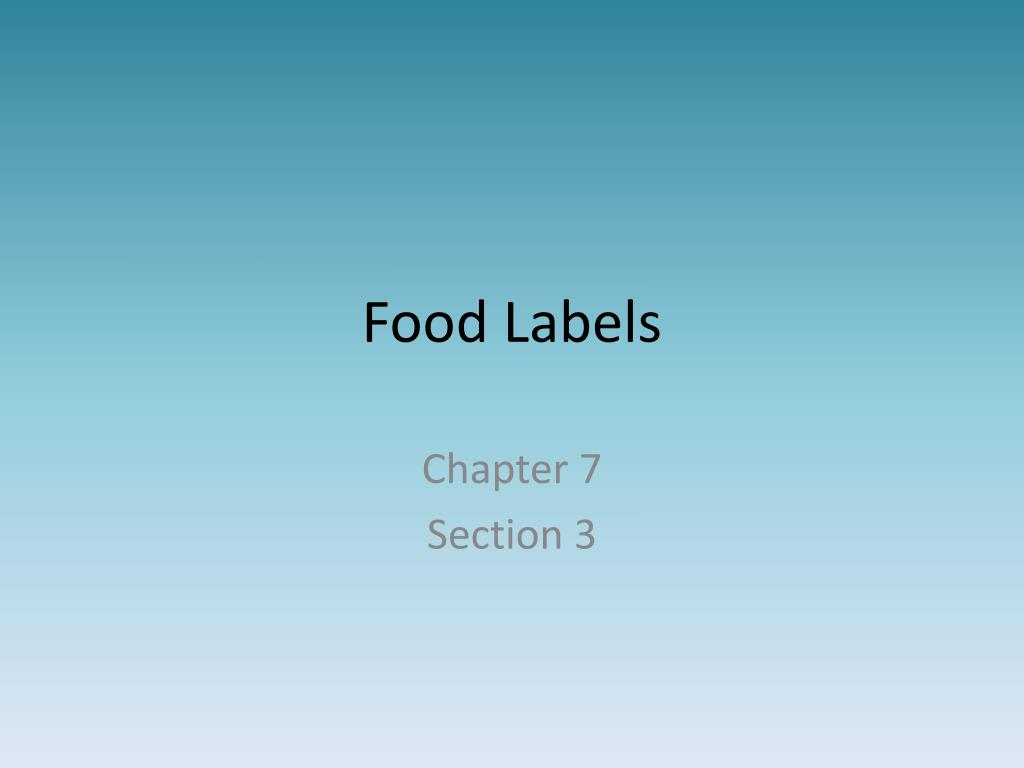 ppt food labels powerpoint presentation id 1636339