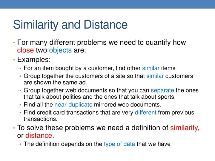 Similarity and distance1