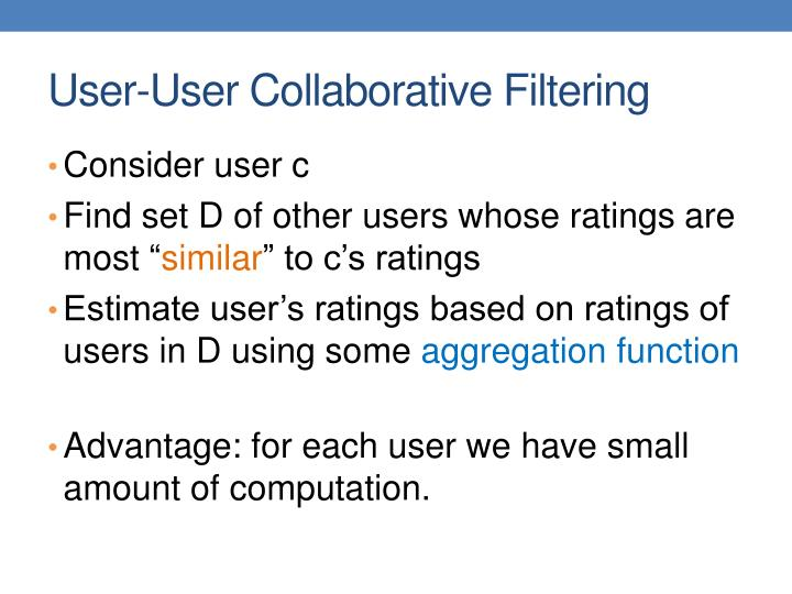 User-User Collaborative Filtering