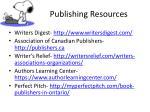 publishing resources
