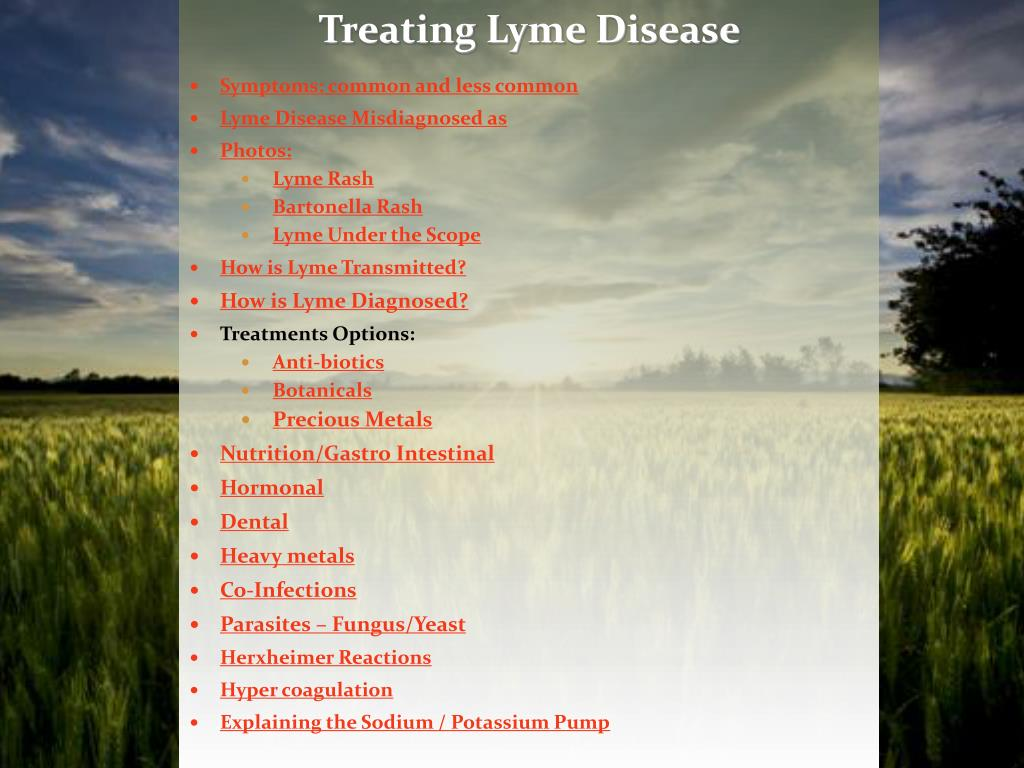 PPT - Symptoms: common and less common Lyme Disease