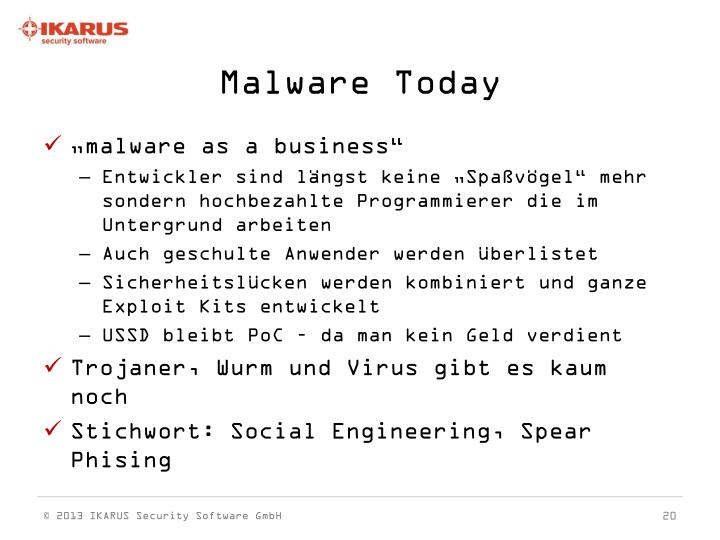 Malware Today