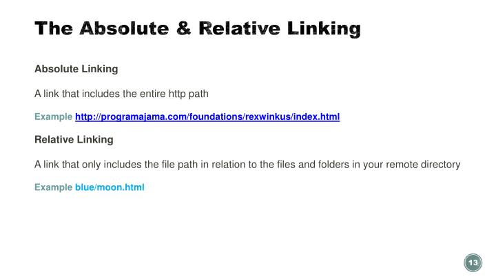 The Absolute & Relative Linking