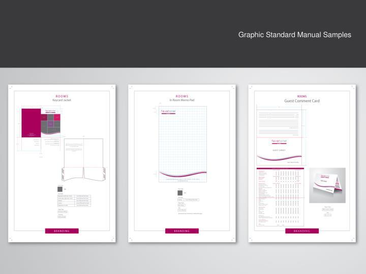 Graphic Standard Manual Samples