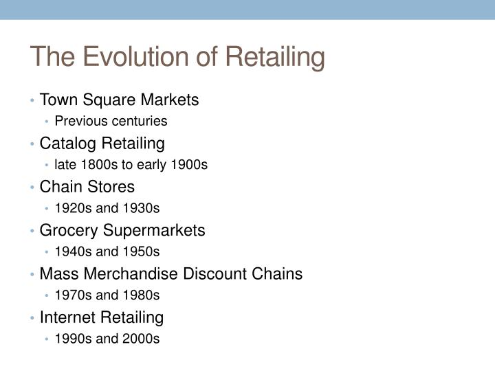 The Evolution of Retailing