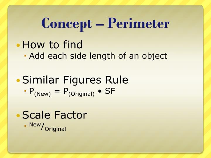 Concept perimeter