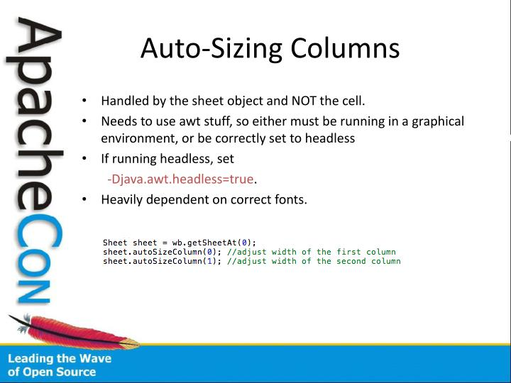 Auto-Sizing Columns