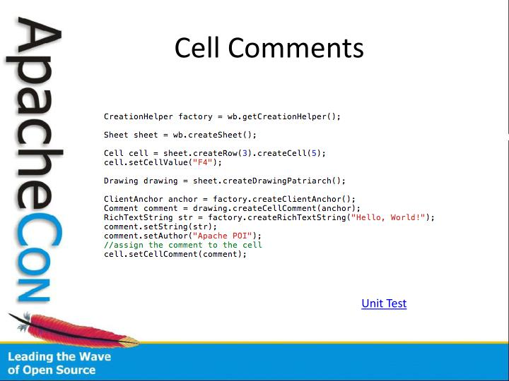 Cell Comments