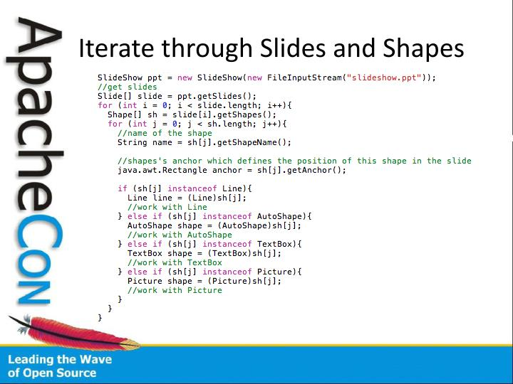 Iterate through Slides and Shapes