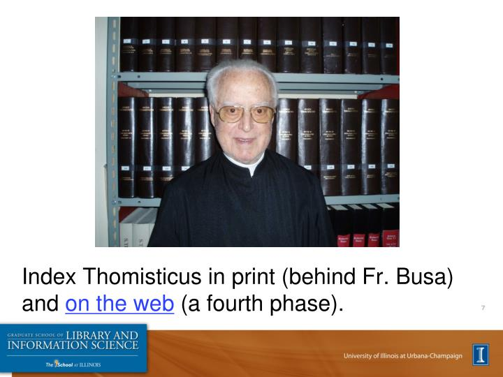 Index Thomisticus in print (behind Fr. Busa) and