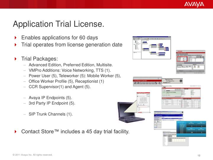 Application Trial License.