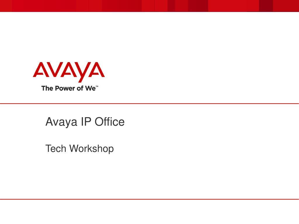 Ppt Avaya Ip Office Powerpoint Presentation Id1636752