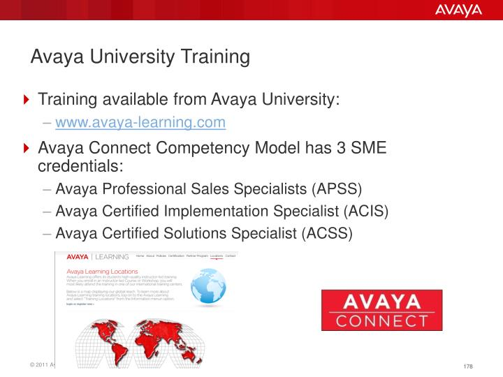 Avaya University Training