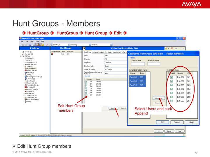 Hunt Groups - Members