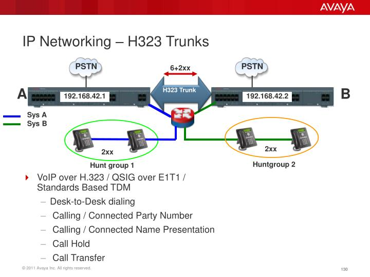 IP Networking – H323 Trunks