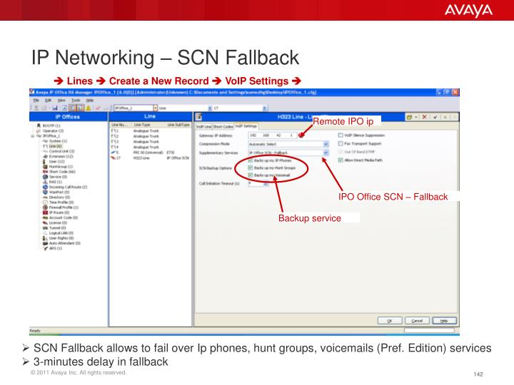 IP Networking – SCN Fallback