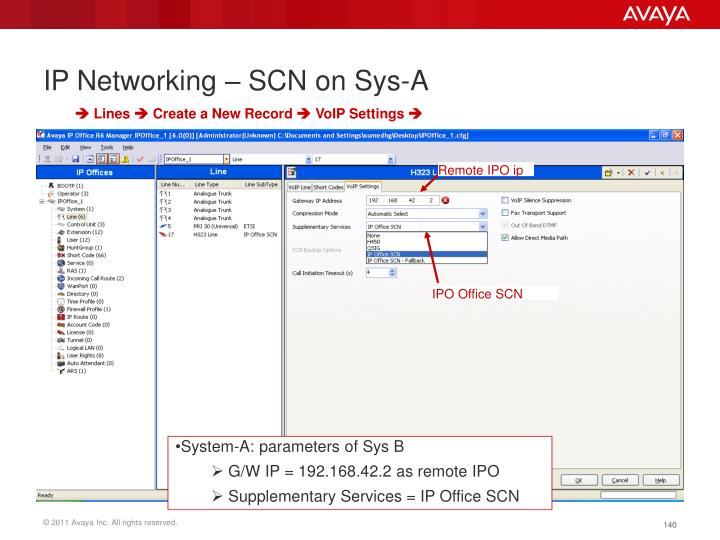 IP Networking – SCN on Sys-A
