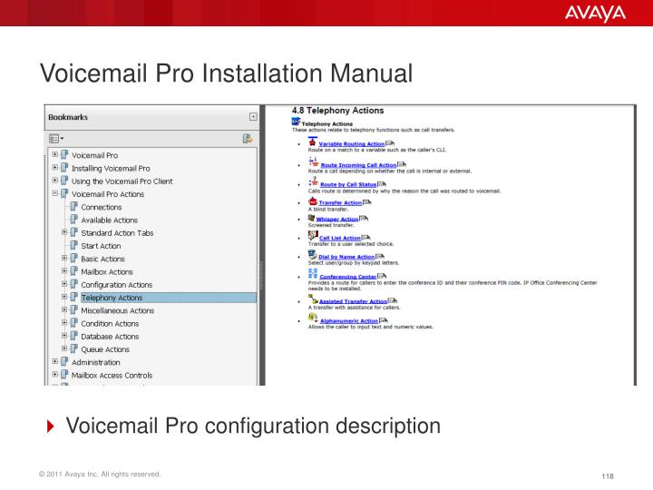 Voicemail Pro Installation Manual