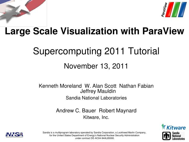 large scale visualization with paraview n.