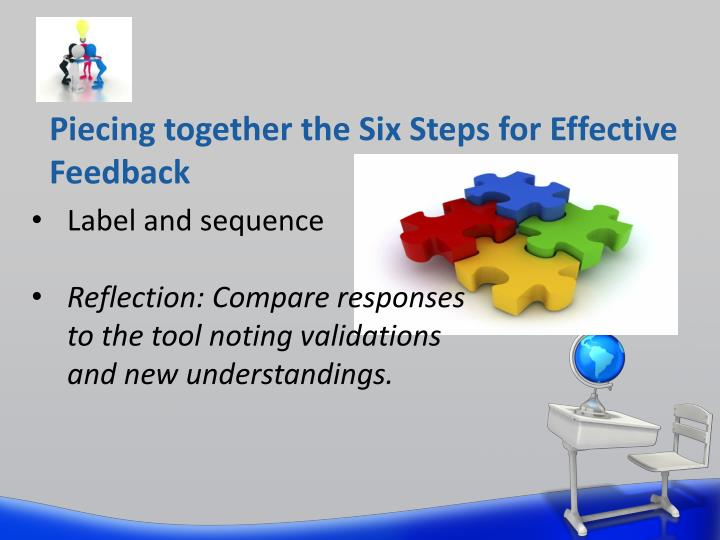 Piecing together the Six Steps