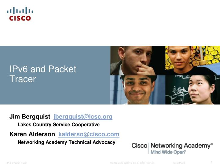 ipv6 and packet tracer n.