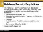 database security regulations