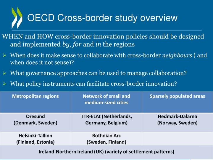 OECD Cross-border study overview