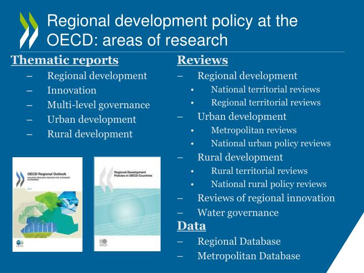 Regional development policy at the oecd areas of research