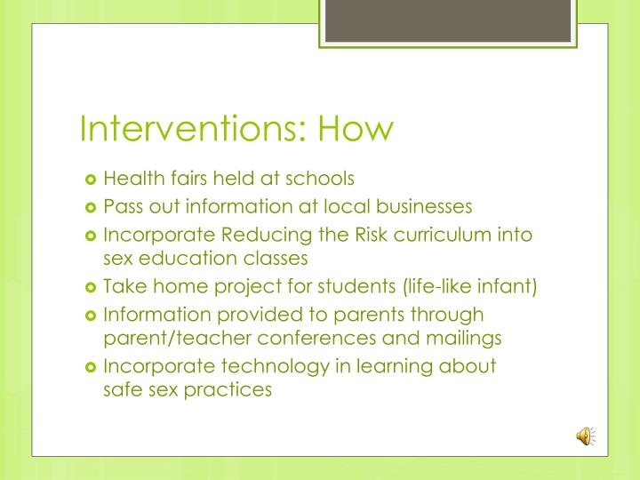 Interventions: How