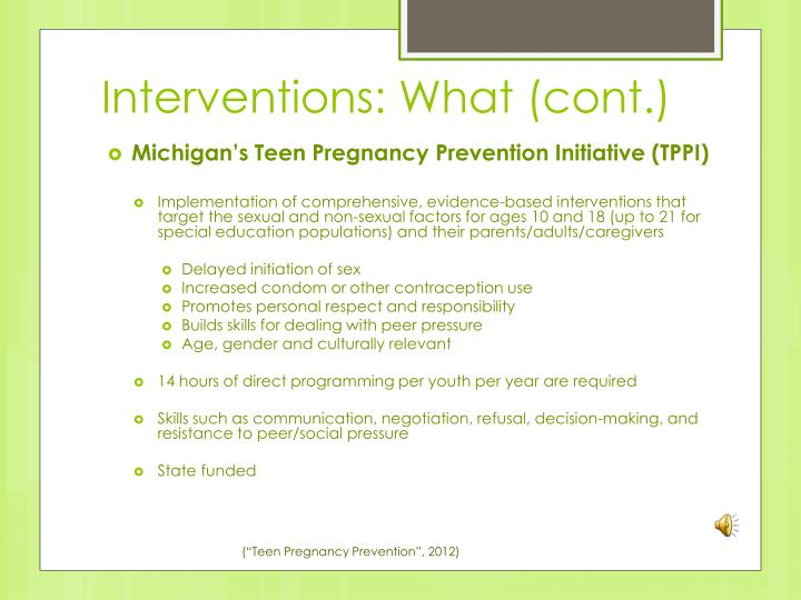 Interventions: What (cont.)