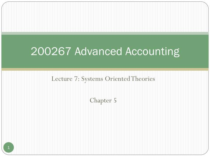 200267 advanced accounting n.