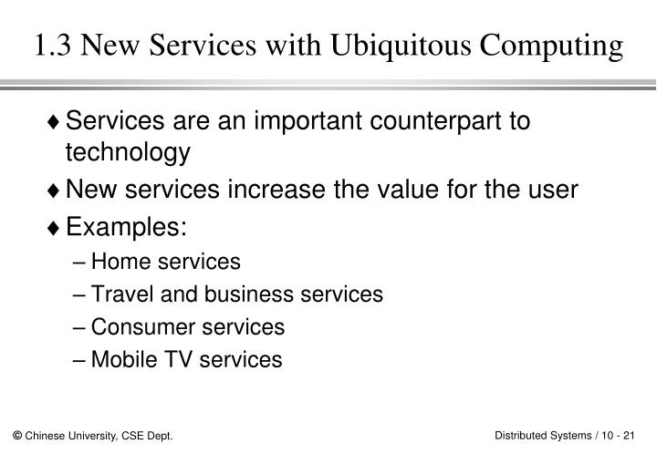 1.3 New Services with Ubiquitous Computing