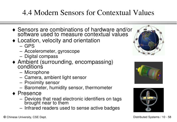 4.4 Modern Sensors for Contextual Values