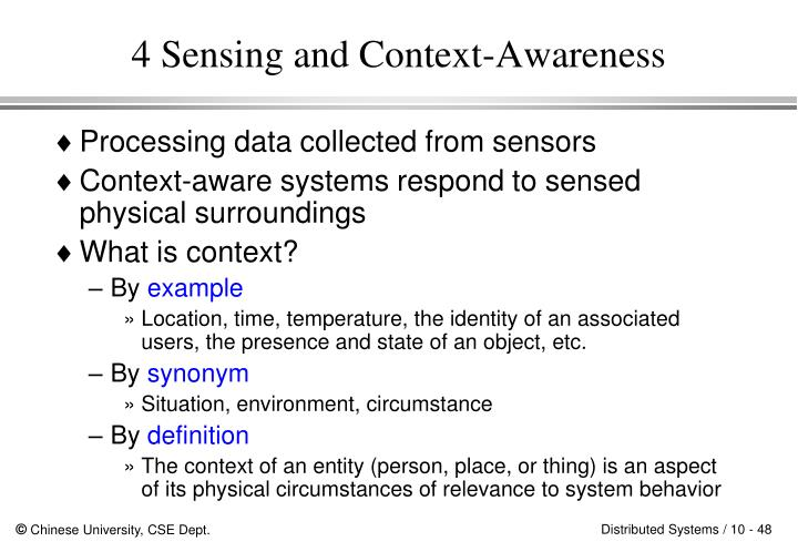 4 Sensing and Context-Awareness