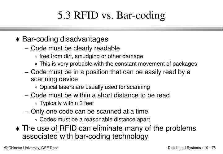 5.3 RFID vs. Bar-coding