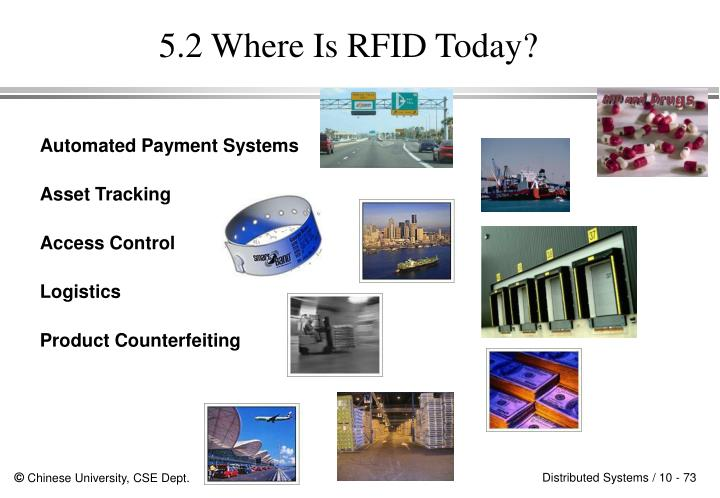 5.2 Where Is RFID Today?