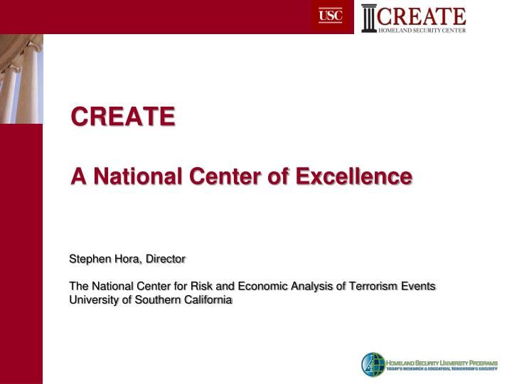 create a national center of excellence n.