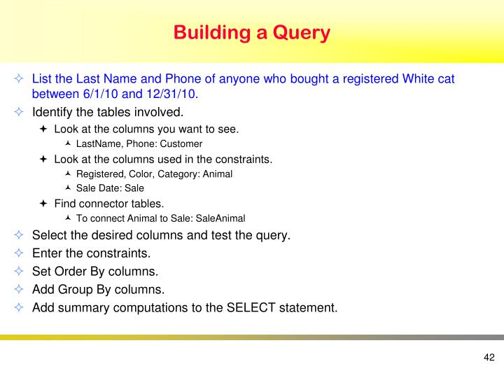 Building a Query