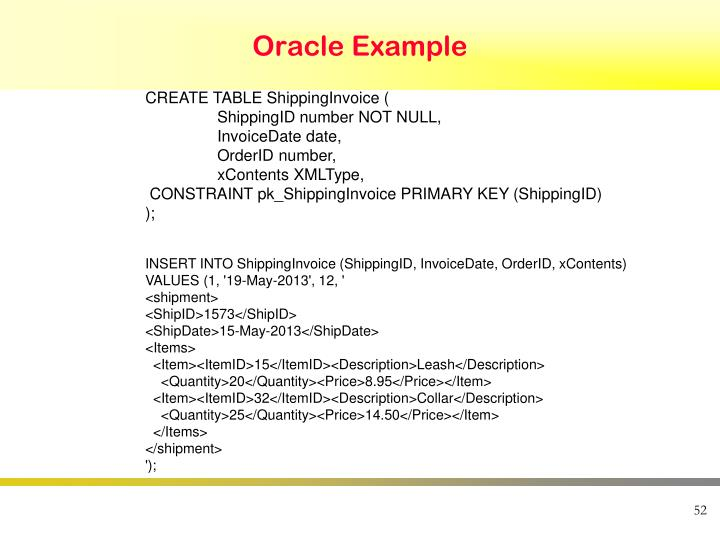 Oracle Example